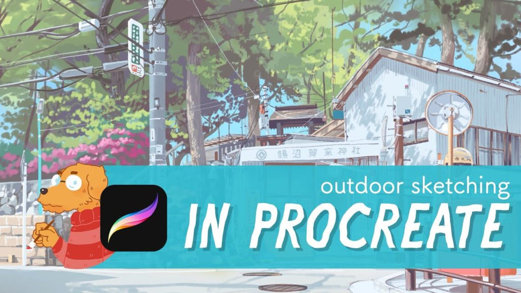 Outdoor painting in Procreate