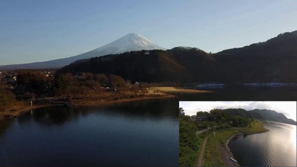 Drone Video Phantom and MavicPro in Mount Fuji (富士山と河口湖空撮、勝山湖畔)