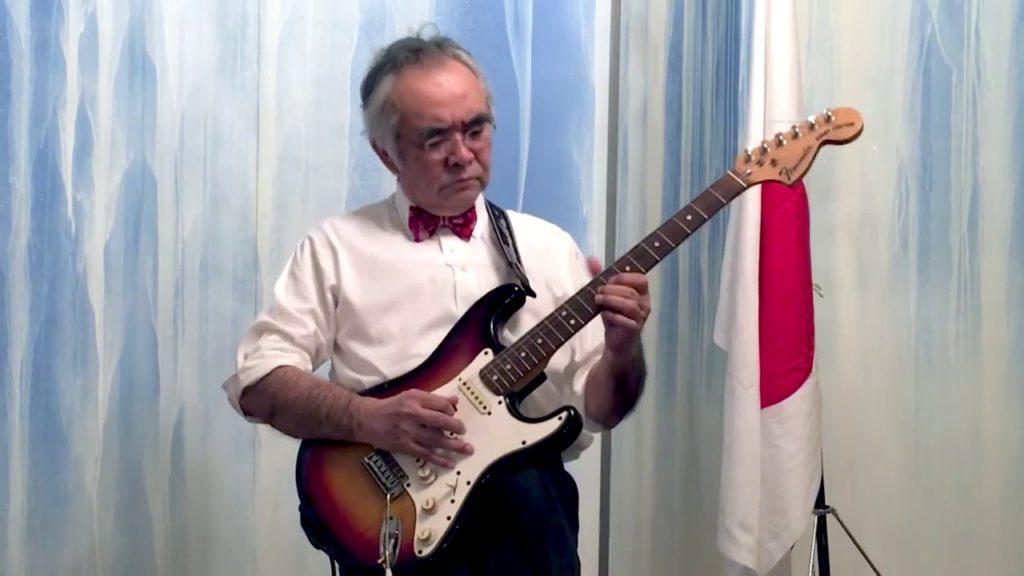 Japan's Ambassador Kanji Yamanouchi straps on Fender Stratocaster, plays Hendrix for July 4